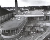 Nieuwbouw garage en kantine werkplaats 1959