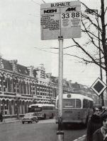 Wilhelminastraat 1967 bushalte NZH & M & Kroon