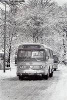 Heemstede Aerdenhout met lijn 90 naar Haarlem, winter 1970