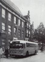Gedempte oude gracht 1967 met lijn 70 naar ijmuiden