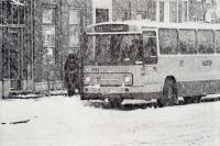 Lijn 70 naar ijmuiden in sneeuwsstorm 1970