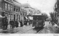 Haarlem grote houtstraat met paardentram 1900