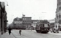 Station Haarlem,  Tram naar leiden en schoten 1934