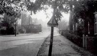 Heemstede, Vijverlaan met tram naar het eindpunt 1948