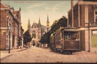 Haarlem Ostadestraat met tram