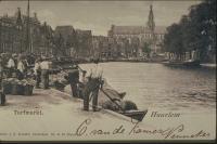 Haarlem Oude Turfmarkt met Grotekerk
