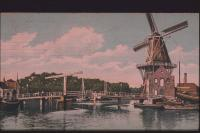 Haarlem Spaarne met de molen De Adriaan