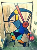Glas in lood raam - boogschutter