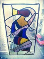 Glas in lood raam - maagd